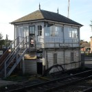 Photo:Signal Box at Newark castle Station, controlling gates across the Great North Road