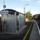Photo:Shelter on the 'up' platform to Lincoln.  Erected 2013