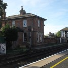 Photo:Former Station Master's house - viewed from the up platform to Lincoln