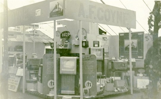 Photo:Coynes' trade stand at an exposition of local business in the car park off London Road, Newark, in 1955