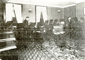 Photo:The Showroom on the first floor c.1925.  Gramophones, anyone?