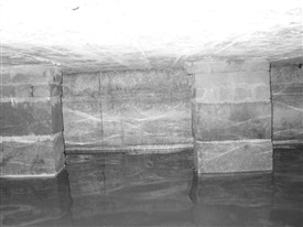 Photo:The substantial bath walls