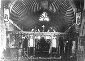 Photo:Above is an image of the interior of St Giles in around 1895, before it was rebuilt in 1898.