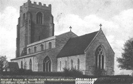 Photo:St. Peters Church, Shelford in about 1910