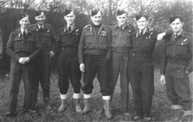 Photo:The crew pictured in Nottinghamshire, Bill Taylor is third from the right.
