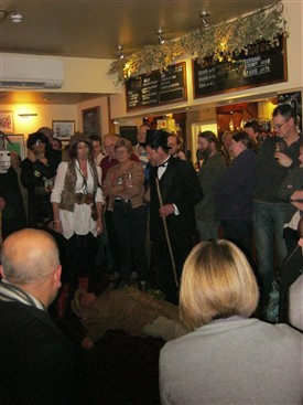 Photo:A packed pub for the Tollerton Plough Play 2012