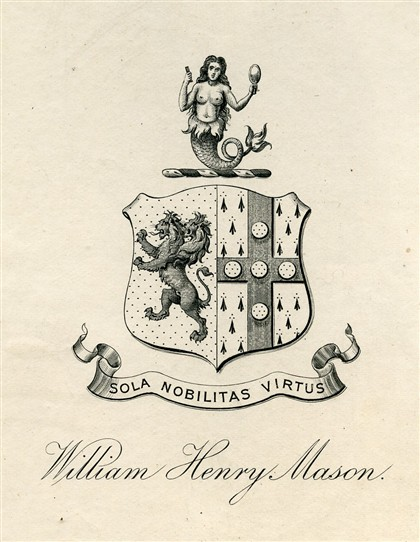 Photo:Bookplate of William Henry Mason, c.1900s