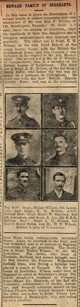 Photo:From the Newark Advertiser 26th May 1915