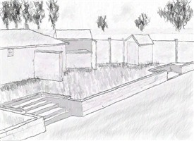 Photo:Sketch of Beeston Lido