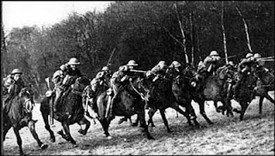 Photo:Canadian cavalry in action