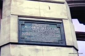 Photo:Hercules Clay house plaque
