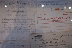 Photo:Documents from Nottinghamshire Archives
