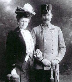 Photo:Franz Ferdinand and his wife the Duchess Sophie