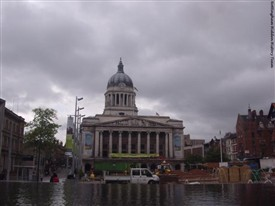 Photo:Nottingham's Old Market Square and Council House in 2011