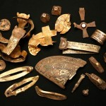 Photo:A small part of the Staffordshire Hoard (bent cross top left)