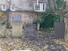 Photo:The Jews Burial Ground on North Sherwood Street. The image was taken by placing the camera over the wall and capturing the shot.