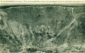 Photo:1920s postcard showing the enormous crater which can still be visited today