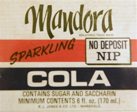 Photo:Mandora Cola label