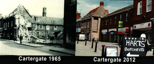Photo:Demolition of a fine old house in 1965 made way for today's shopping infill (right).