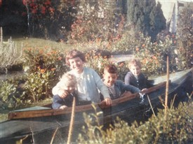 Photo:Grandad had lovely gardens by the bungalow at the cafe. My brother, cousins and I loved to play there.