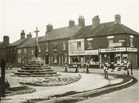 Photo:The Abbey Cross, junction of Potter Street and Priorswell Road, Worksop, c 1950s