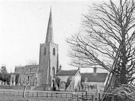 Photo:Attenborough Chuch with Henry Ireton's birthplace visible right