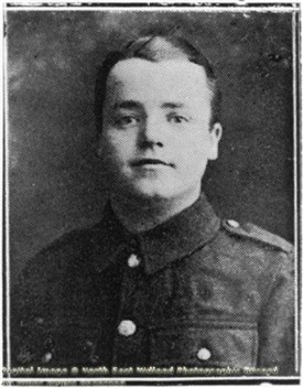 Photo:Pte L F Watkins of the Sherwood Foresters, c 1914-1918