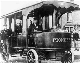 Photo:The 'Pioneer' Steam Bus entered service around Mansfield in June 1898