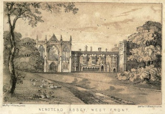 Photo:Newstead Abbey in c.1850