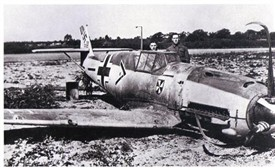 Photo:Von Werra's Messerschmitt shot down in Kent