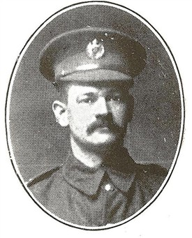 Photo:Bernard Wright in The Boroug of Worksop Roll of Honour of the Great War 1914 - 1918